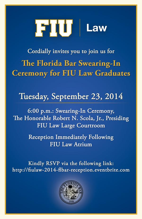 Florida Bar Swearing-In Ceremony