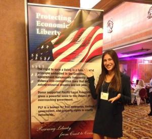 Third-year law student DeeDee Bitran attends PLF's 2015 gala; receives award