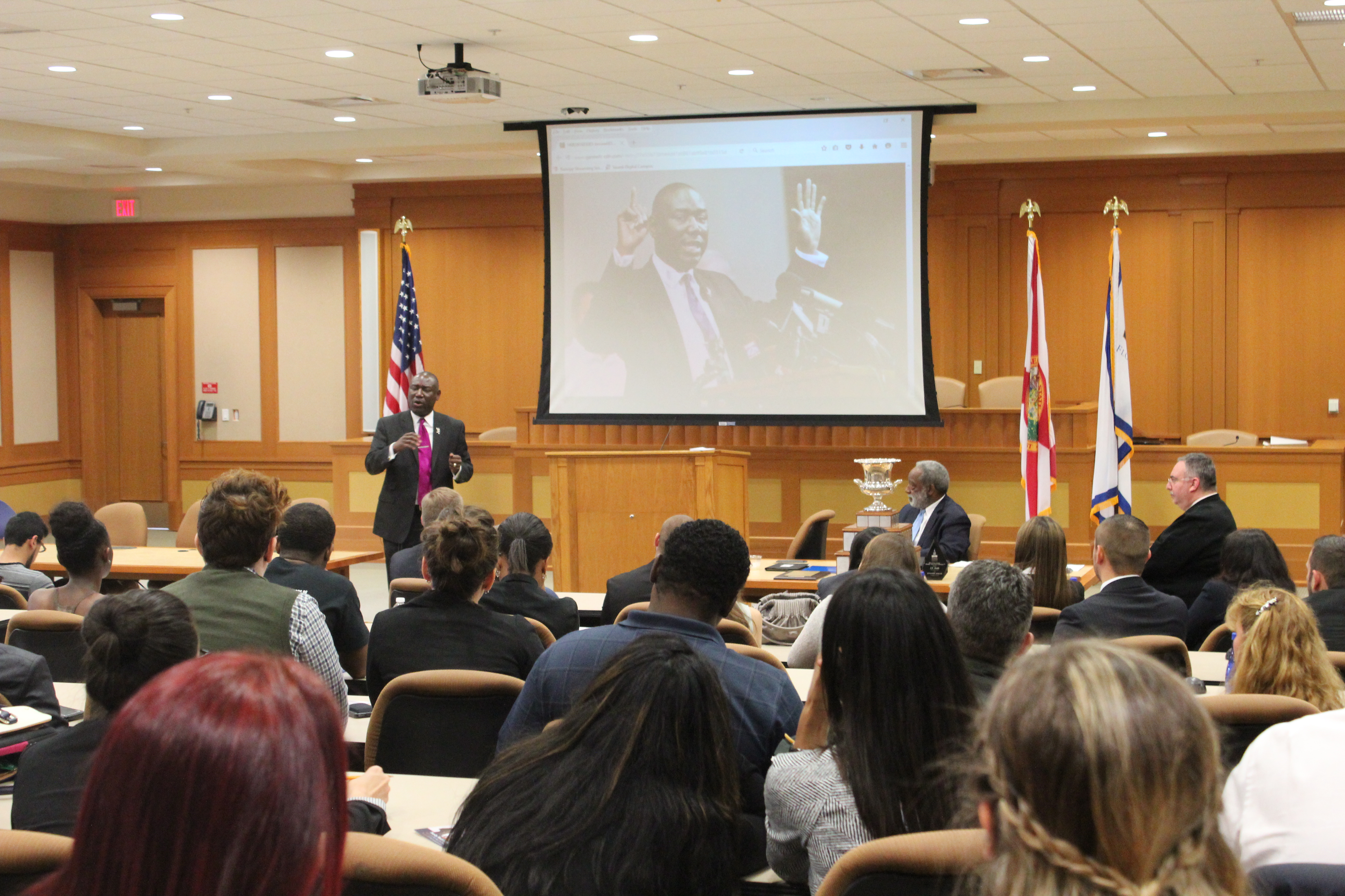 Trial Advocacy program hosts Benjamin Crump for Fifth Annual Great Legal Storytellers