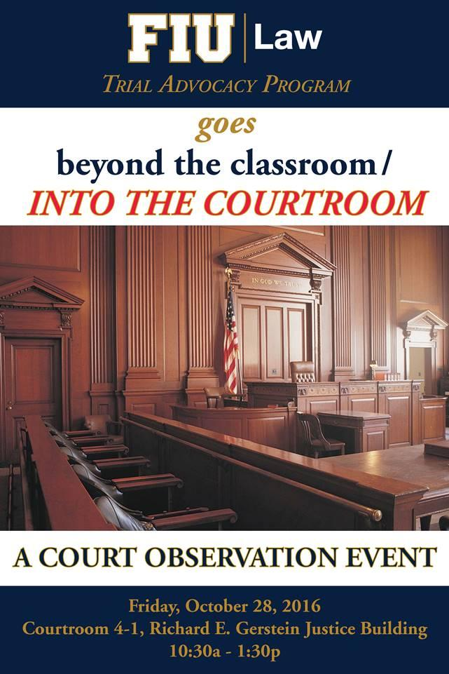 Trial Advocacy goes beyond the classroom and into the courtroom