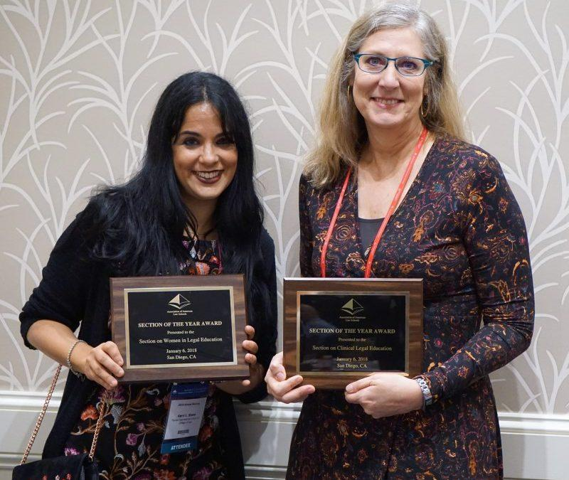 Professor Kerri L. Stone accepted the inaugural Section of the Year Award during 2018 AALS Annual Meeting.