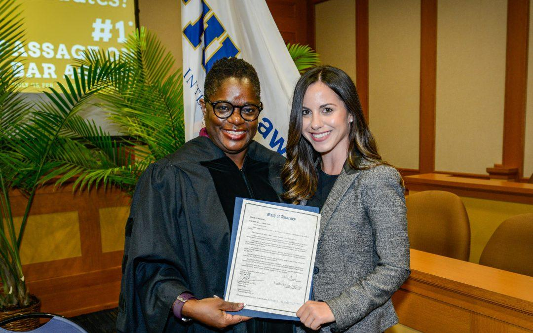 FIU College of Law graduate, Kimberly de la Cruz, will deliver the student address at the Fourth District Court of Appeal swearing-in ceremony