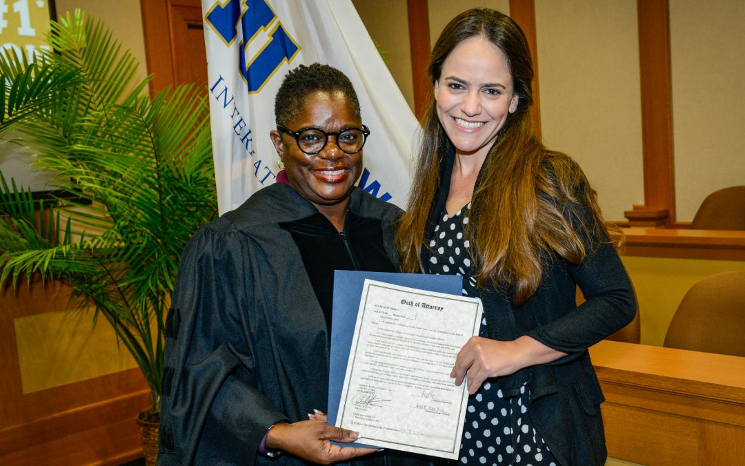 FIU College of Law graduate, Ana E. Tovar Pigna, delivered the student address at the Third District Court of Appeal Swearing-In Ceremony