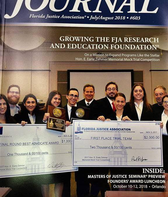 Champion FIU Trial Team Featured on Cover of Florida Justice Association Journal