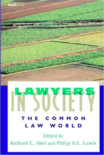 New book spotlight: Lawyers in Society: The Common Law World