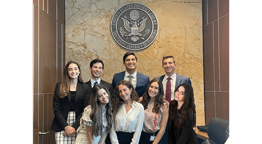 2Ls Rob Alvarez and Leah Stein spend their summer as judicial interns in Judge Bloom's chambers